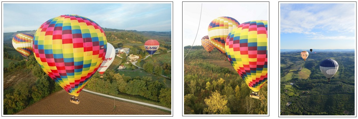 Ballooning in Tuscany over chianti valley