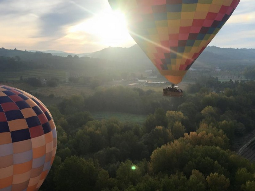 Ballooning fly in tuscany