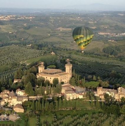 Ballooning in Chianti valley