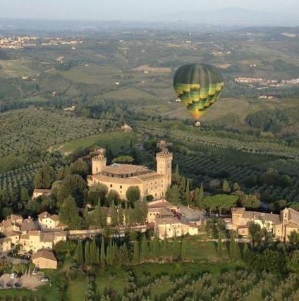 Ballooning in Chianti valley
