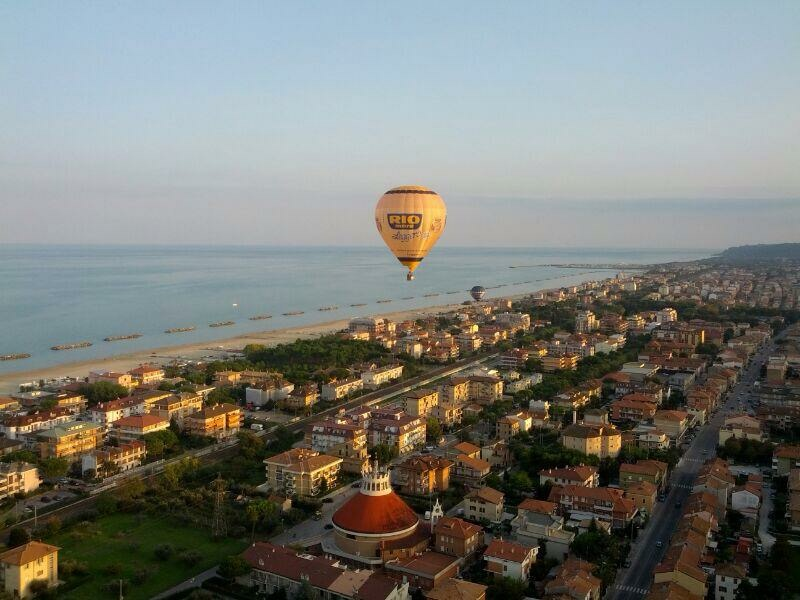 Sea view from a hot air balloon