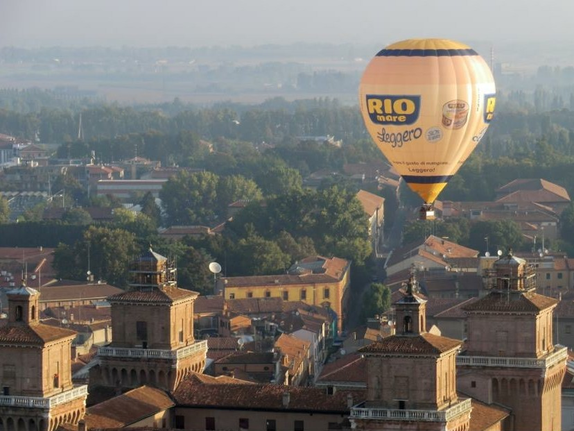 Hot Air Balloon over Ferrara