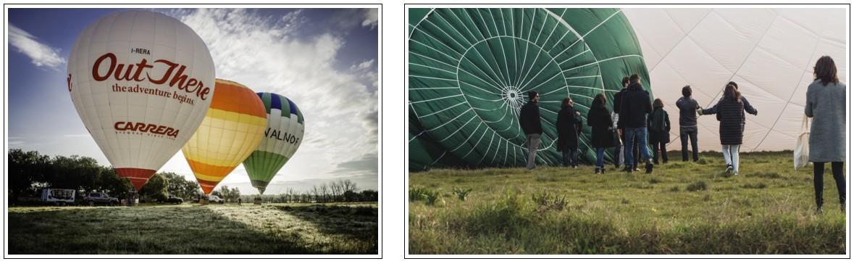 Hot air Balloon in tuscany