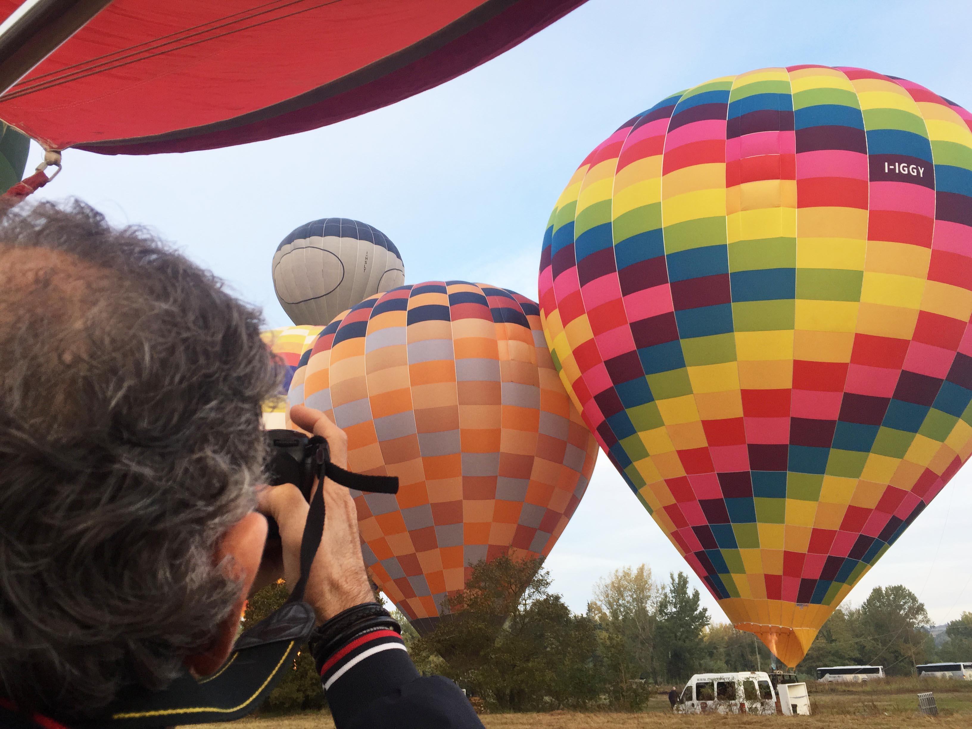 Photos in hot air balloon