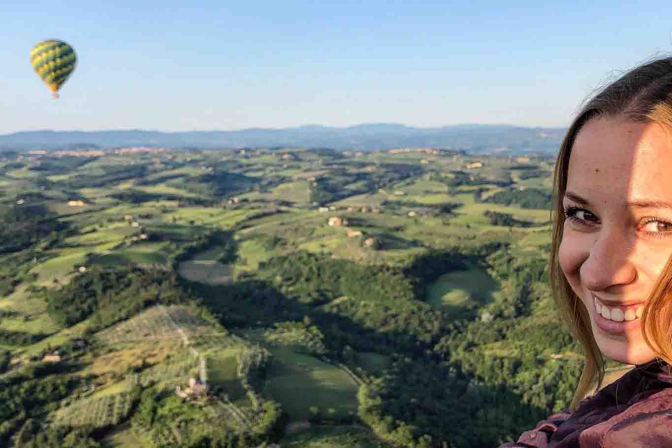 View of tuscany on the Balloon