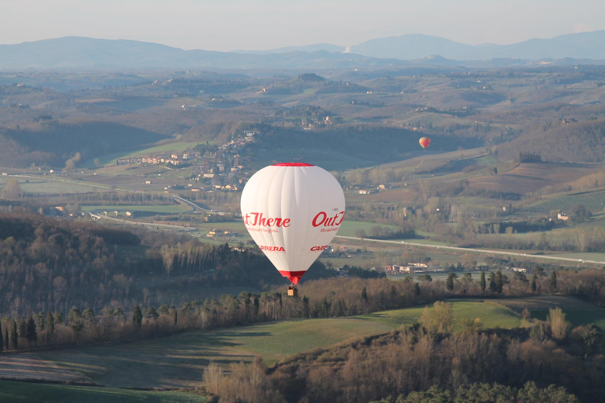 Hot Air Balloon over Lucca Valley