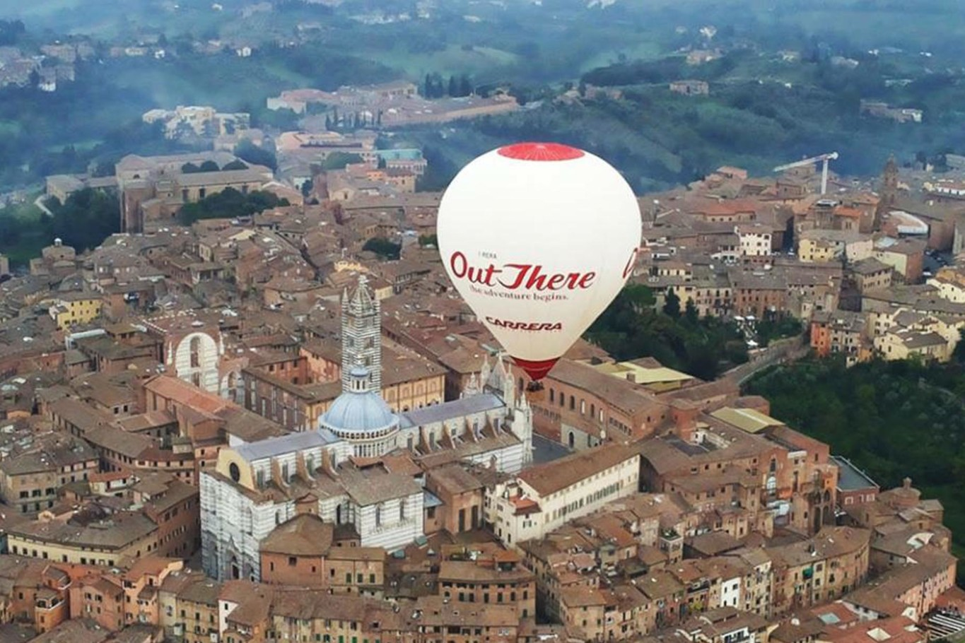 Ballooning in Siena above Tuscany